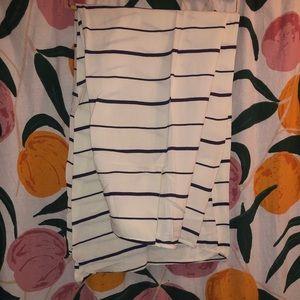 Tobi Pants - TOBI High Rise Wide Leg Striped White Pants: Small